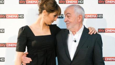 Gianni Canova con l'attrice Paola Cortellesi