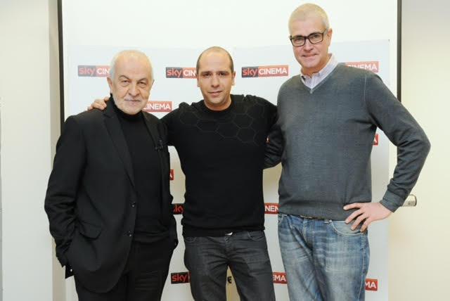 Gianni Canova con l'attore e regista Checco Zalone