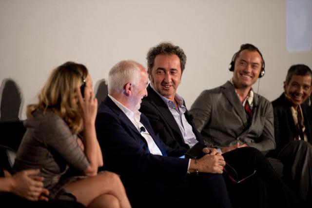 Gianni Canova con l'attore Jude Law