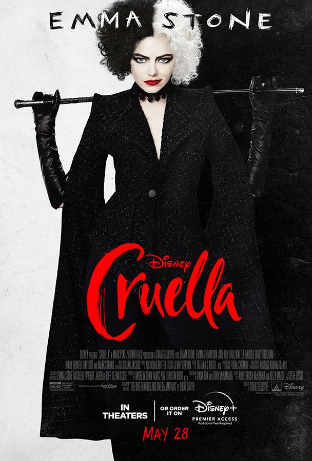 Emma Stone è Crudelia DeMon nel film Cruella
