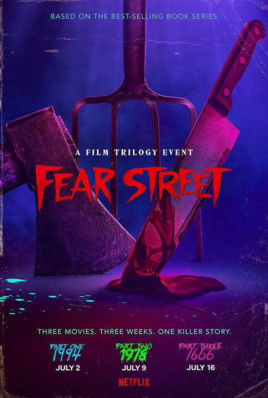 locandina della trilogia Fear Street genere horror